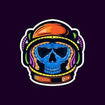 Pegatina astronauta