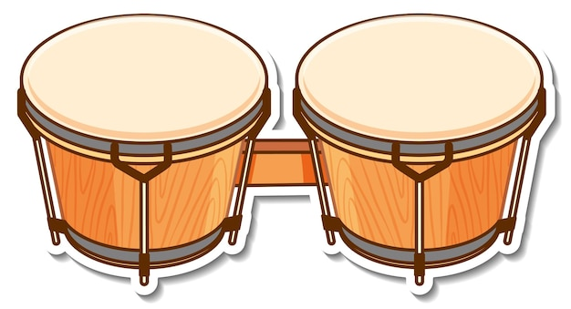Pegatina bongos tambor instrumento musical