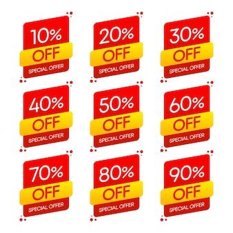 Pegatina, botón exclusivo de mejor precio premium. oferta especial de venta. ilustración de conjunto de vectores.