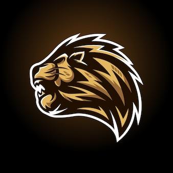 Pegatina cabeza de león