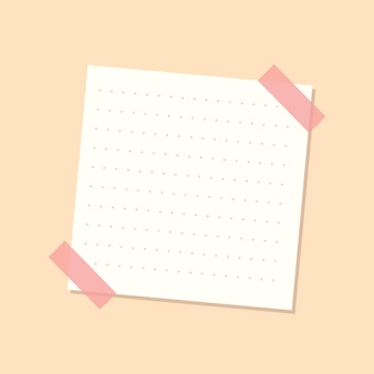 Pegatina de diario de papel de carta punteado blanco