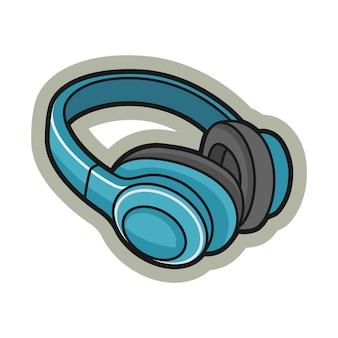 Pegatina de dibujos animados de auriculares