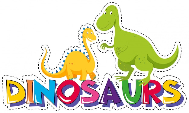 Pegatina para los dinosaurios.