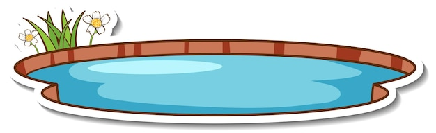 Una pegatina de estanque pequeño natural aislado