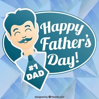 Pegatina de feliz día del padre