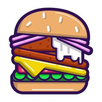 Pegatina hamburguesa