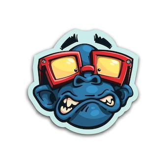 Pegatina mono asustado
