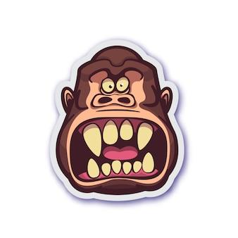 Pegatina del mono malvado