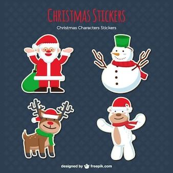 Pegatinas de adorables personajes navideños