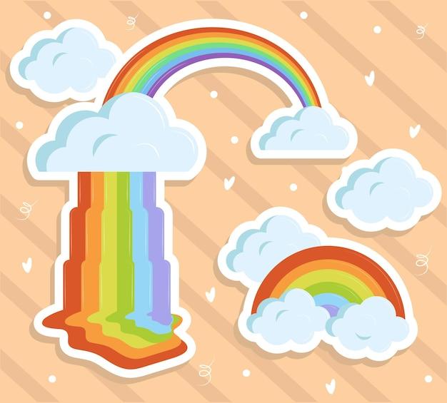 Pegatinas de arcoiris