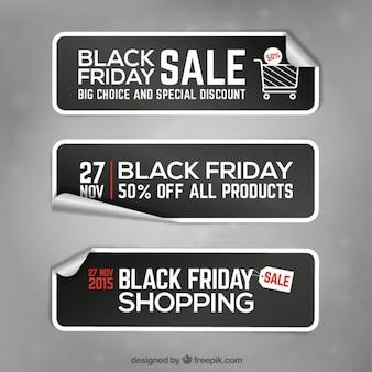 Pegatinas de banners del viernes negro