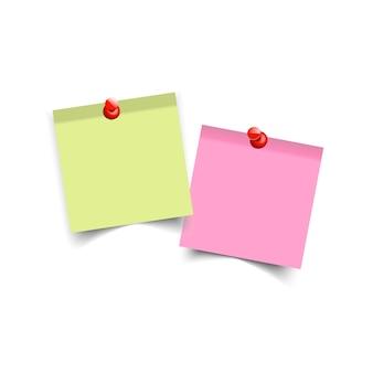Pegatinas de colores cuadrados.