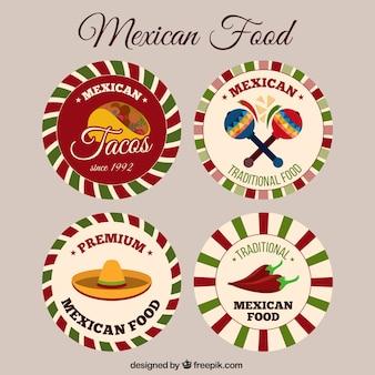 Pegatinas de comida tradicional mexicana