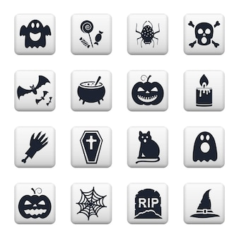 Pegatinas cuadradas de halloween