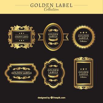 Pegatinas doradas para productos exclusivos