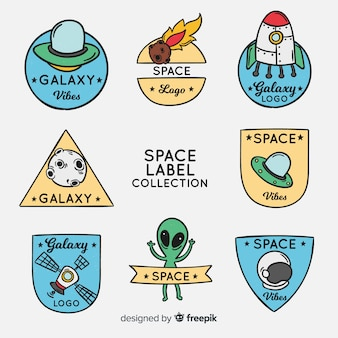 Pegatinas del elementos del espacio