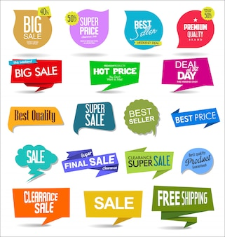 Pegatinas y etiquetas de venta