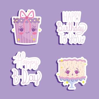 Pegatinas de feliz cumpleaños