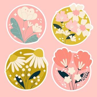 Pegatinas de flores y plantas
