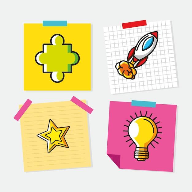 Pegatinas de grandes ideas