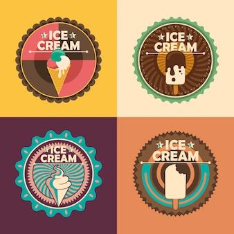 Pegatinas de helado
