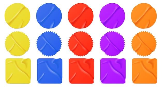 Pegatinas de papel de colores