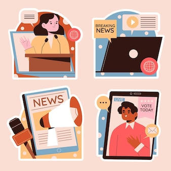Pegatinas de política y noticias ingenuas