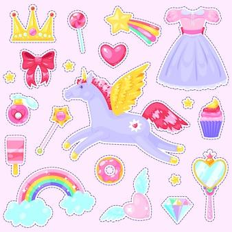 Pegatinas con unicornio