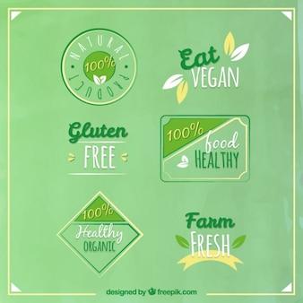 Pegatinas veganas vintage