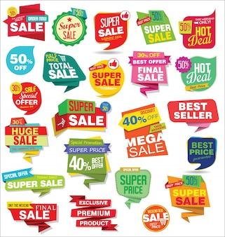 Pegatinas de venta