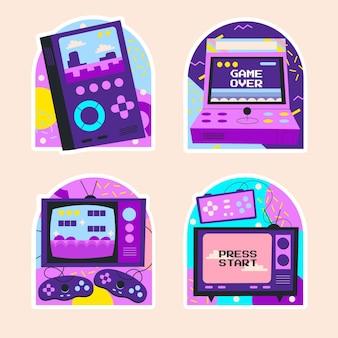 Pegatinas de videojuegos retro ingenuos
