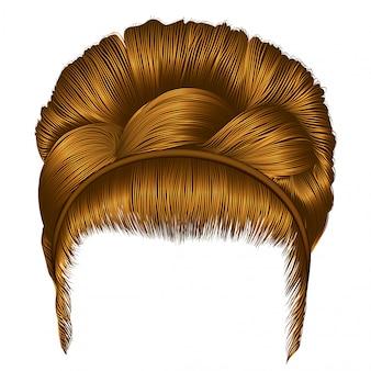 Peinado rubio con flequillo