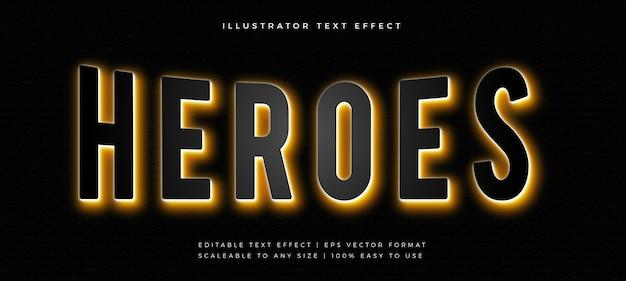 Película oscura con efecto de fuente de estilo de texto de luz de fondo dorada