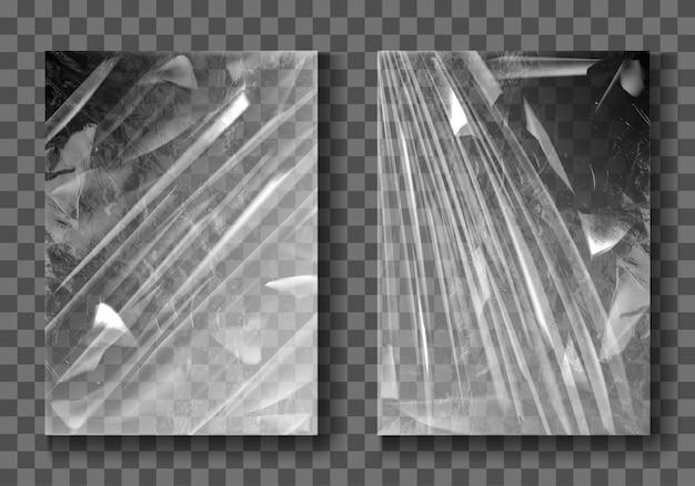 Película de plástico, envoltura elástica de celofán transparente