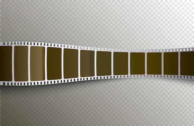 Película tira de película 3d sobre fondo transparente