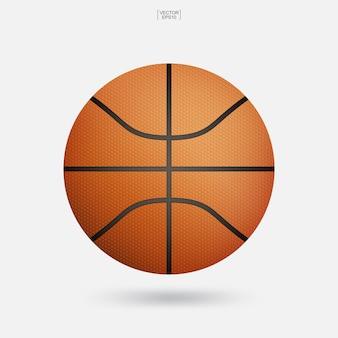 Pelota de baloncesto aislado sobre fondo blanco.