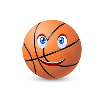 Pelota de baloncesto feliz
