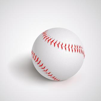 Pelota de béisbol en blanco