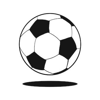 Pelota de fútbol dibujado a mano