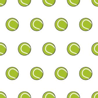Pelota de tenis de patrones sin fisuras. ilustración del tema de tenis