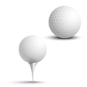 Pelotas de golf en el stand