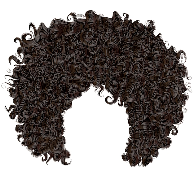 Peluca de moda rizado pelo negro africano
