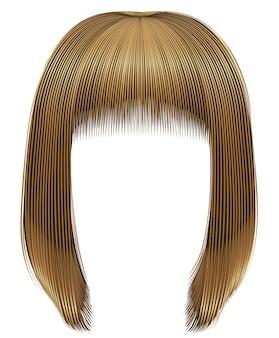 Peluca de mujer de moda con cabello rubio