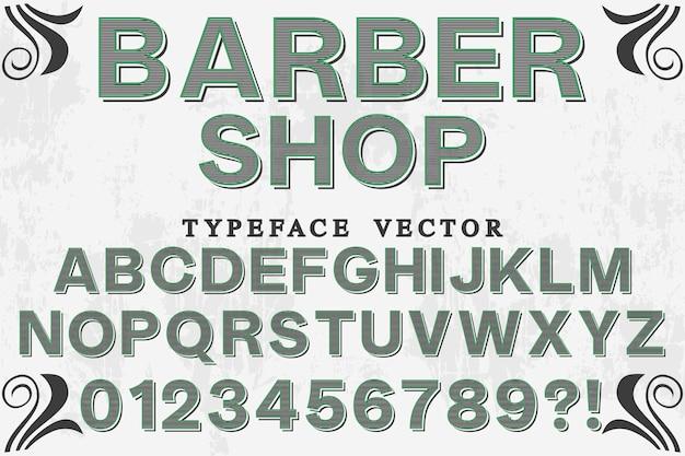 Peluquería de tipografía vintage
