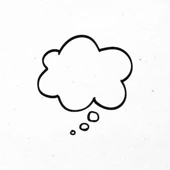 Pensamiento, burbuja, negro, negocio, icono clipart