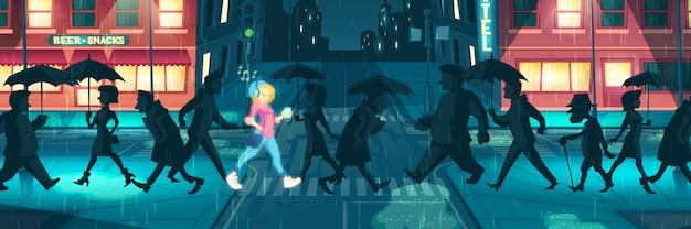 Pensamiento positivo poder concepto de vector de dibujos animados