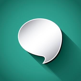 Pensar en el diseño del globo de texto