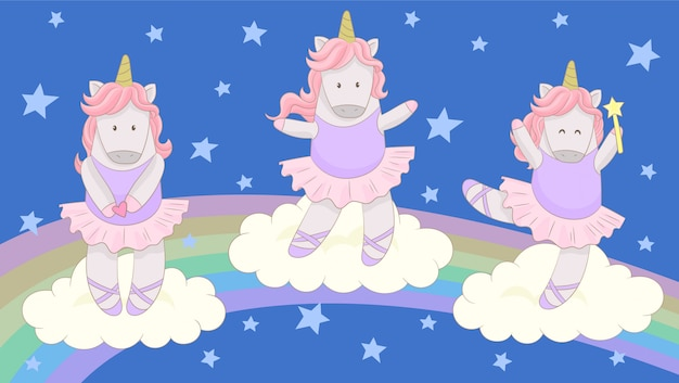 Pequeña bailarina unicornio