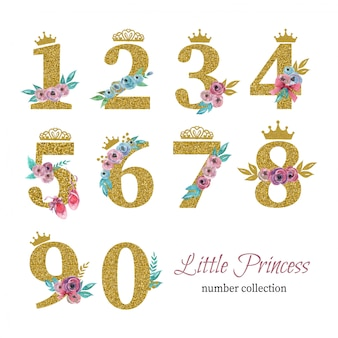 Pequeña colección de números de princesas