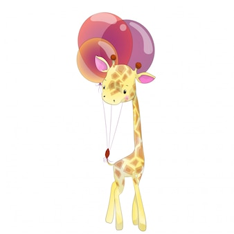 Pequeña jirafa bebé